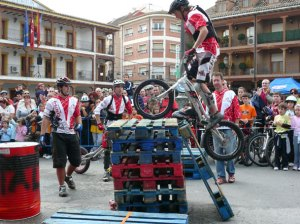 Exhibición de Bike Trial en Ciempozuelos (Madrid)